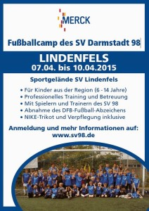 SV Darmstadt 98 Fussballcamp beim SV Lindenfels Flyer